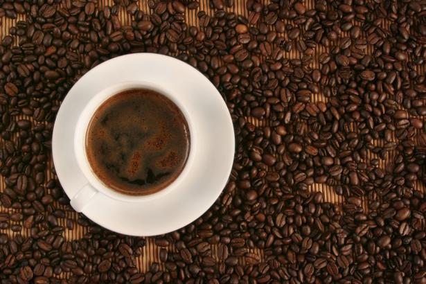 Фотообои чашка кофе, зерна кофе (food-0000045)