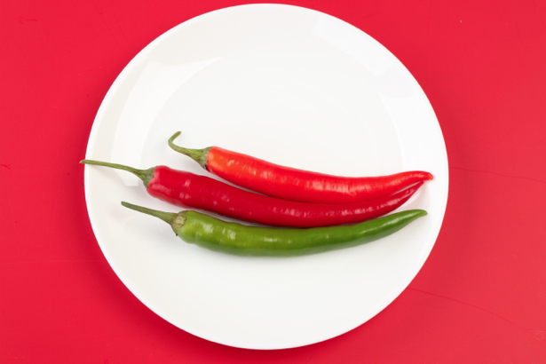 Красный зеленый перец фотообои кухня (food-0000075)