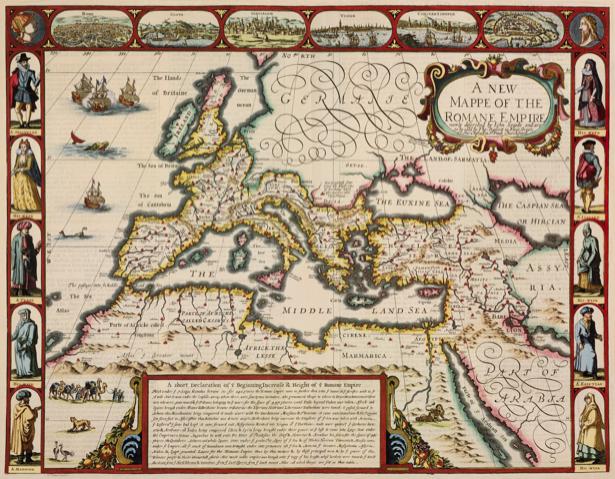 атлас, Европа, карты, старая карта (map-0000112)