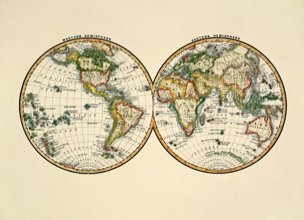 атлас, география, карты, старая карта (map-0000150)