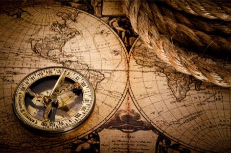 Фотообои старая карта, компас (map-0000209)