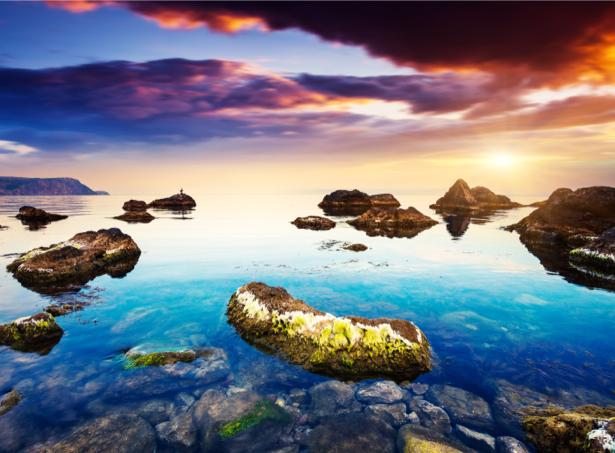 Фотообои море закат горизонт (nature-0000678)