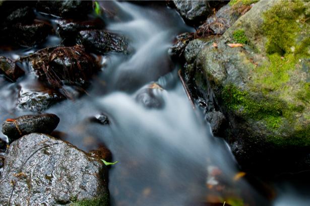 Фотообои камни мох водопад (nature-0000687)