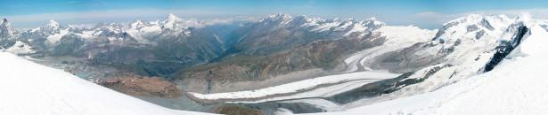 Фотообои горные ледники и горные вершины (nature-00276)