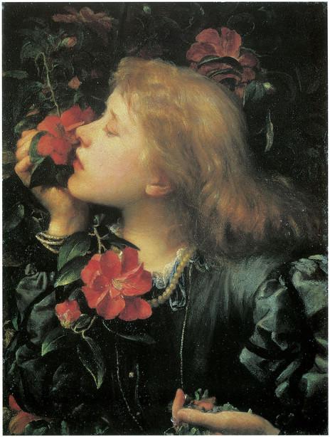 Картина женщина с цветами Ватт (pf-119)