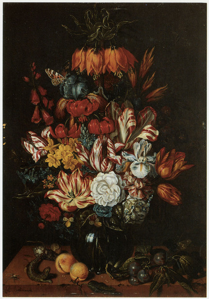 Картина натюрморт с цветами букет (pf-11)