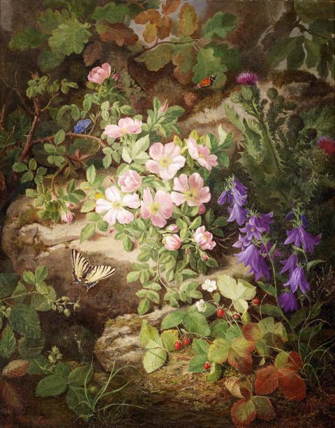 Картина с альпийскими цветами (pf-136)