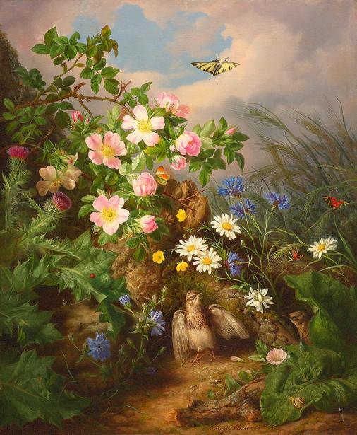 Картина натюрморт с птицами (pf-142)