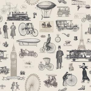 Фотообои винтажный транспорт (printmaking-0000066)