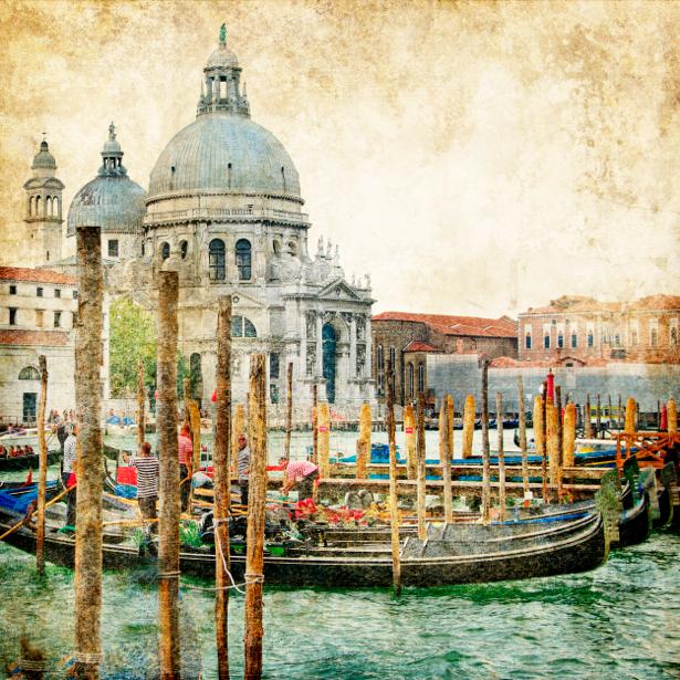Фотообои канал в Венеции (retro-vintage-0000093)