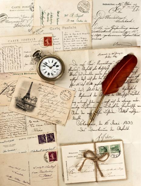 Фотообои винтаж письма открытки (retro-vintage-0000169)