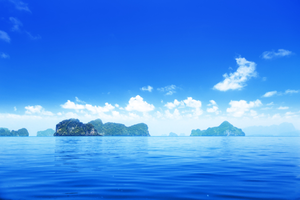 Фотообои море берег остров небо (sea-0000278)