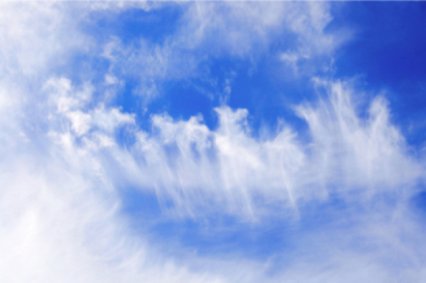 Фотообои голубые облака - синее небо (sky-0000054)