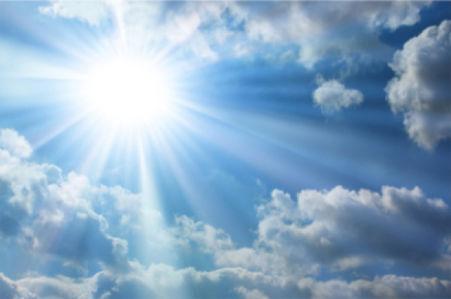 Фотообои небо днём лучи солнца (sky-0000067)
