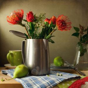 Фотообои натюрморт с красными цветами (still-life-0084)