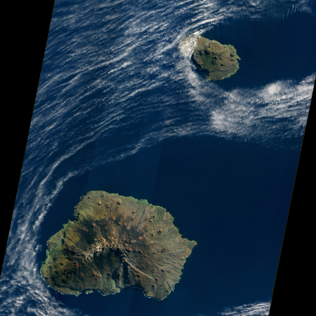 Фотообои острова в океане nasa (terra-00118)