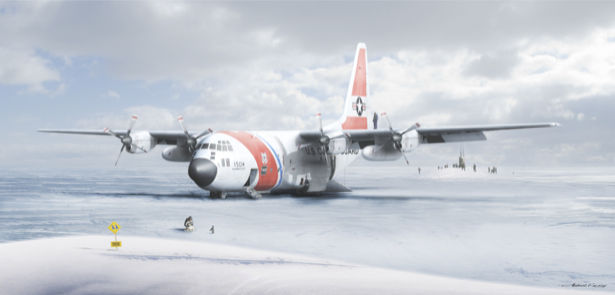 Фотообои грузовой самолёт (transport-0000077)