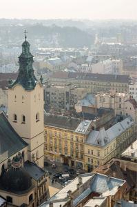 Фотообои Кафедральный собор Львова (ukr-55)