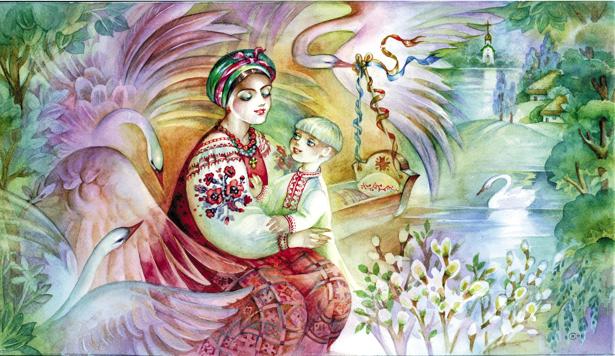 иллюстрация к произведению Василия Симоненко Лебеди материнства (ukraine-0133)