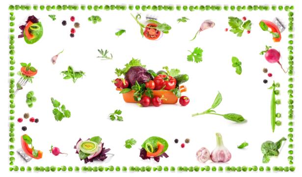 Скатерть с овощами и зеленью (0068)
