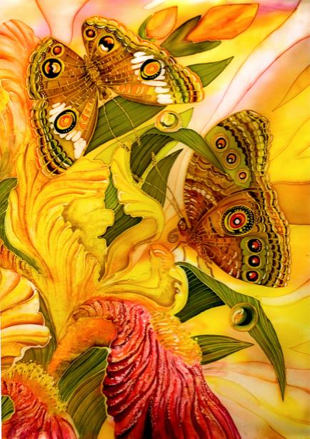 Фотообои рисованные бабочки (background-0000106)