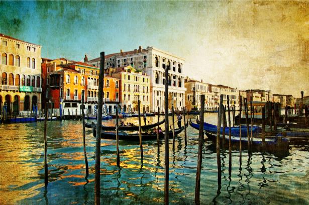 Фото обои Венеция гандолы Италия (city-0000371)