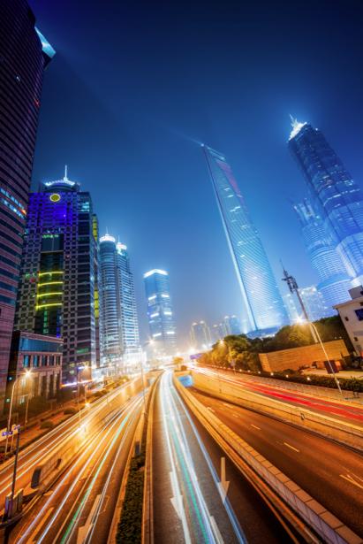 Фотообои ночь мегаполис мост дорога (city-0000772)
