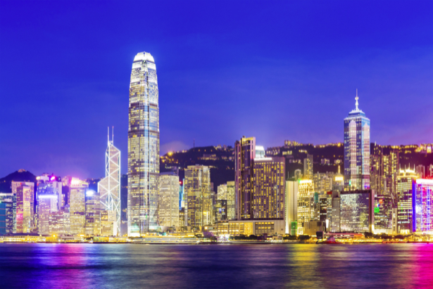 Фотообои гонк-конг ночь огни (city-0001135)
