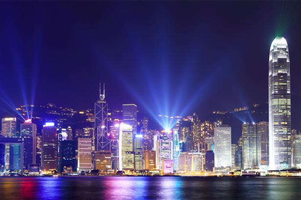 Фотообои Hong Kong освещение (city-0001137)