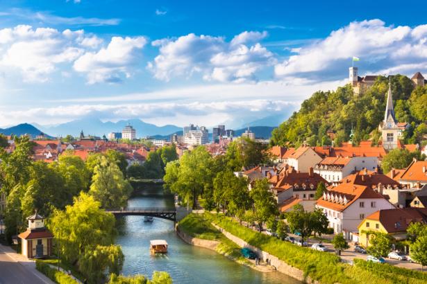 Фотообои Любляна Словения городской пейзаж (city-0001354)
