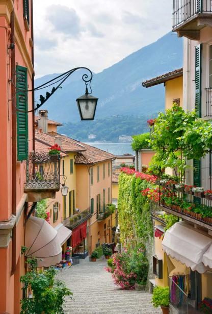 Фотообои улочка в Италии (city1233)