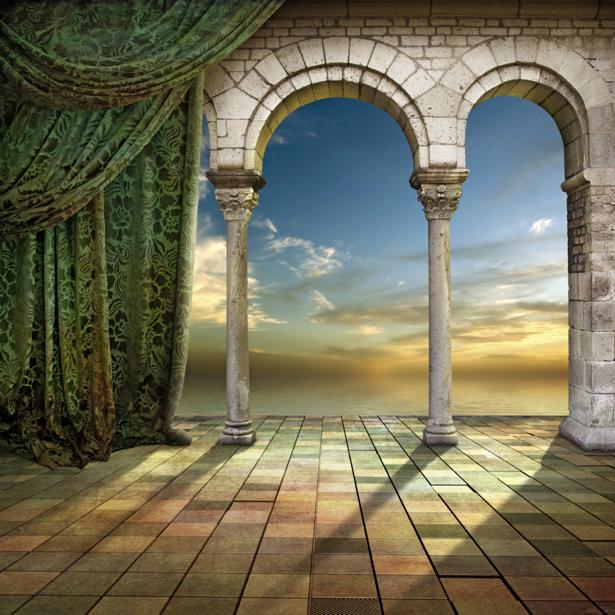 Фотообои в гостиную терраса арка (fantasy-0000145)