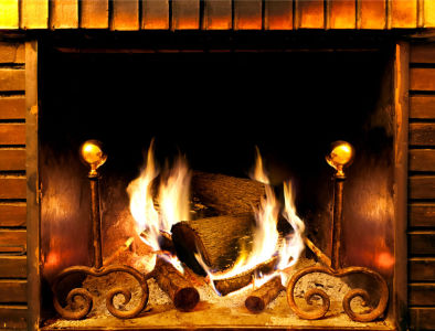 Фотообои камин с огнем (fire-013)