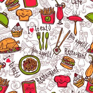 фотообои с повторяющимся рисунком (food-339)