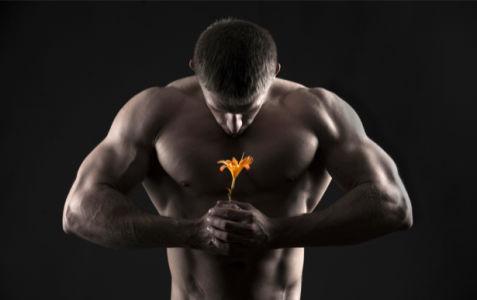 Фотообои мужчина с цветком (glamour-0000251)