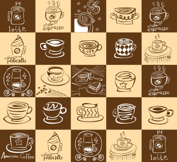 Фотошторы кофейные (kitchen-curtain-00005)