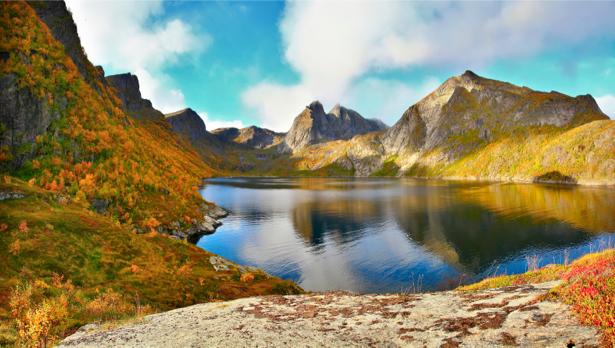 Фотообои с природой горное озеро (nature-00053)