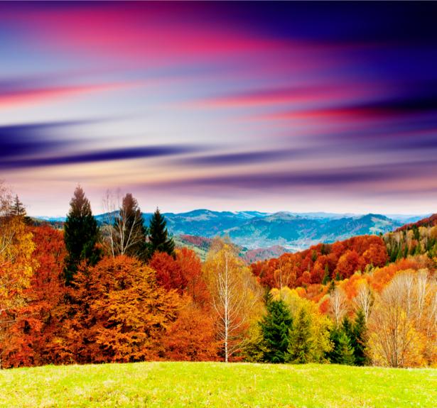 Фотообои горы, закат переливы неба (nature-00430)