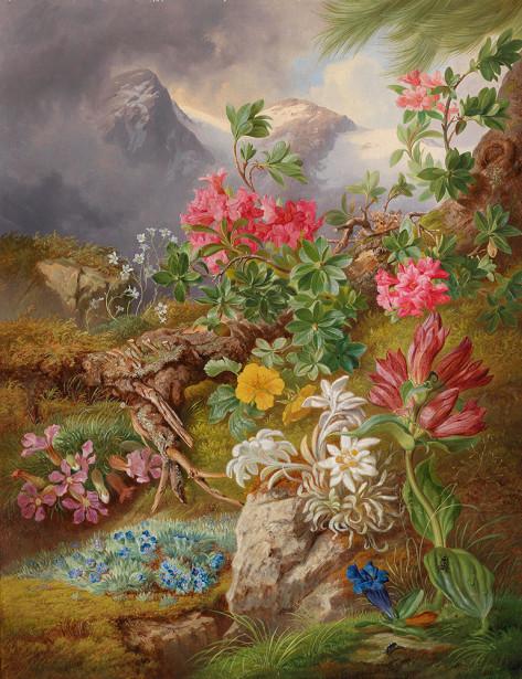 Картина горные цветы (pf-135)