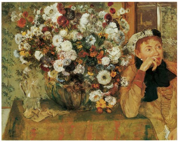 букет цветов на столе (pf-37)
