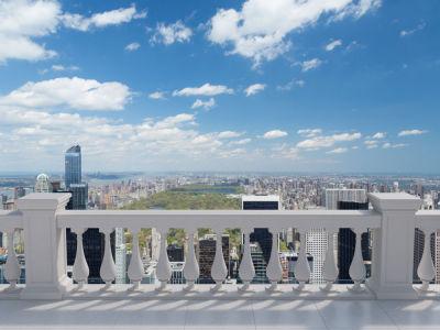 Фотообои Вид с террасы Центральный парк в Нью-Йорке (prg-147)