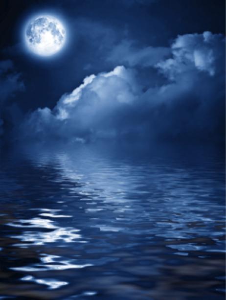 Фото обои небо облака луна ночь (sky-0000005)