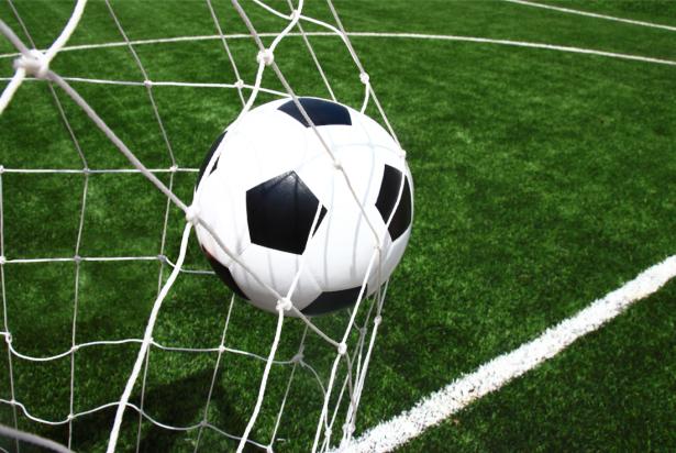 Фотообои футбольный мяч в сетке (sport-0000125)