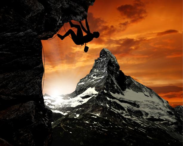 Фотообои альпинист (sport-0000141)