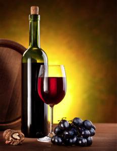 Фотообои виноград виная бутылка (still-life-0017)