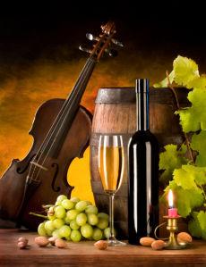 Фотообои бокал вина композиция с виноградом (still-life-0027)