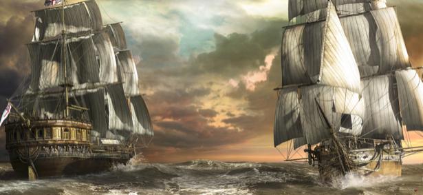 Фотообои парусный корабль в бушующем море (transport-0000193)