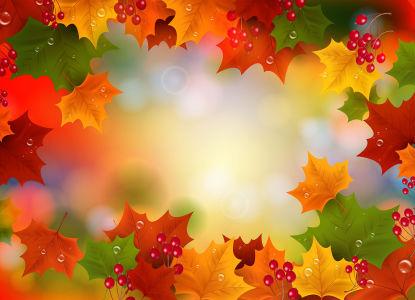 Скатерть Кленовые листья (0075)