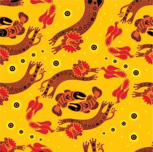 Скатерть танец животных (0115)
