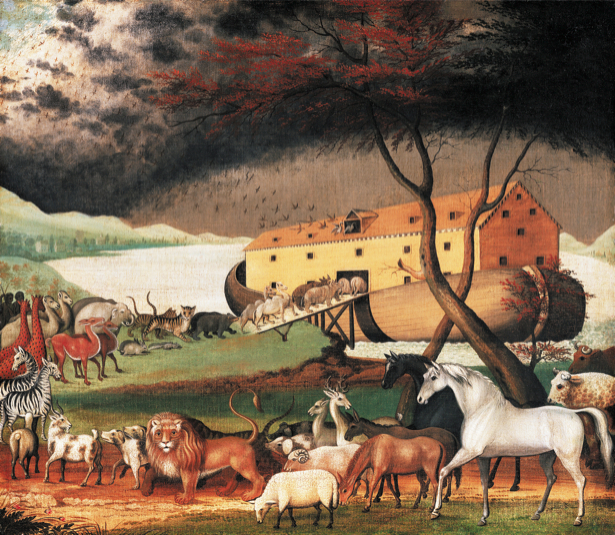 Эдвард Хикс, 1846, библейский сюжет (art-0000080)